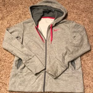 2/$20 Nike DRI-FIT Zip Up Hoodie, Gray, Small